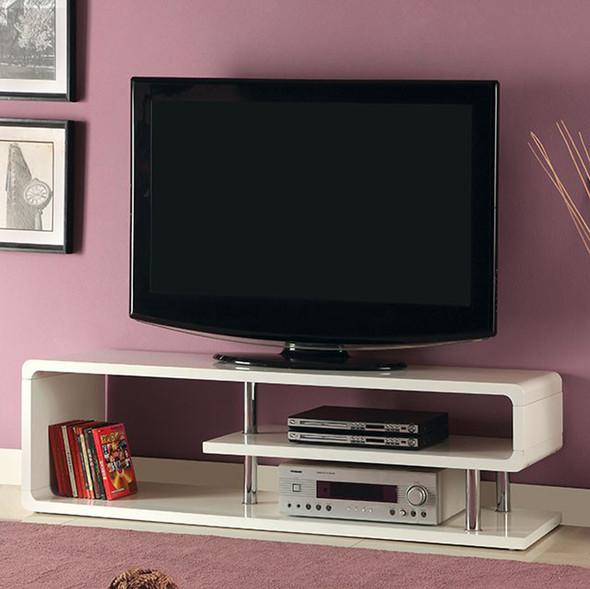 Contemporary Style Tv Console , White