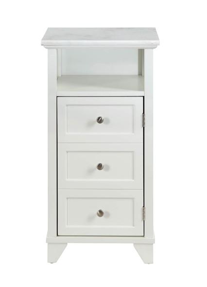 "16"" X 13"" X 30"" White Cabinet"
