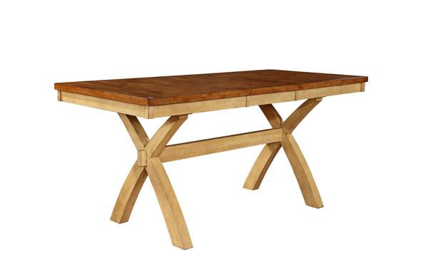 "36"" X 78"" X 36"" Two Tone Hardwood Table"