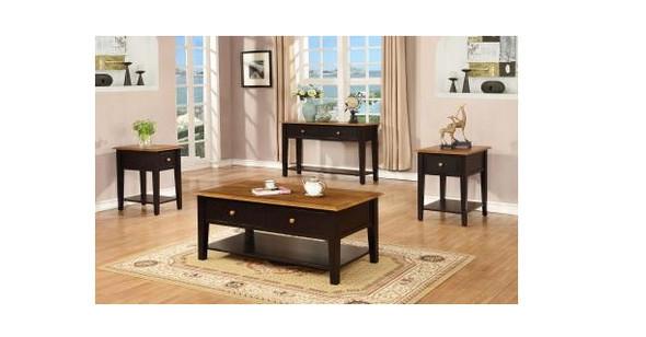 """16"""" X 50"""" X 30"""" Harvest Black Hardwood Table"""