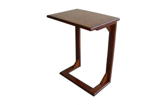 "18"" X 14"" X 24"" Tobacco Hardwood Table"