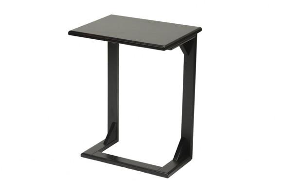 "18"" X 14"" X 24"" Black Hardwood Table"