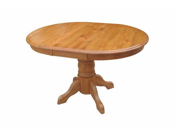 "36"" X 48"" X 30"" Harvest Oak Hardwood Sandalwood Pedestal Table with Empire Feet"