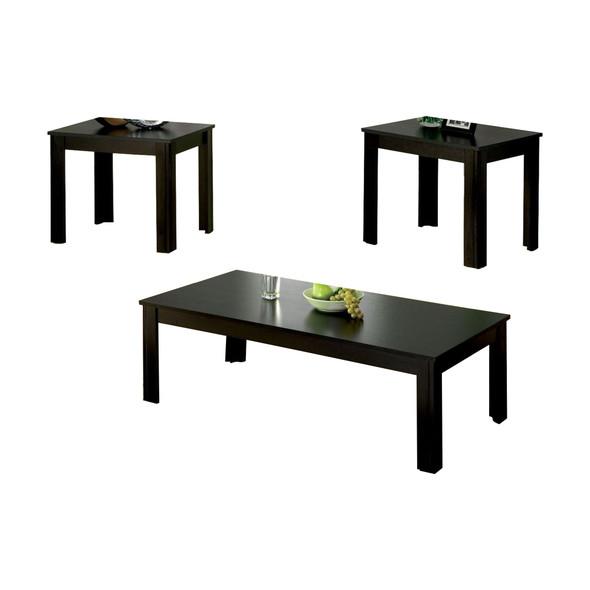 Contemporary 3 Piece Table set, Black Finish