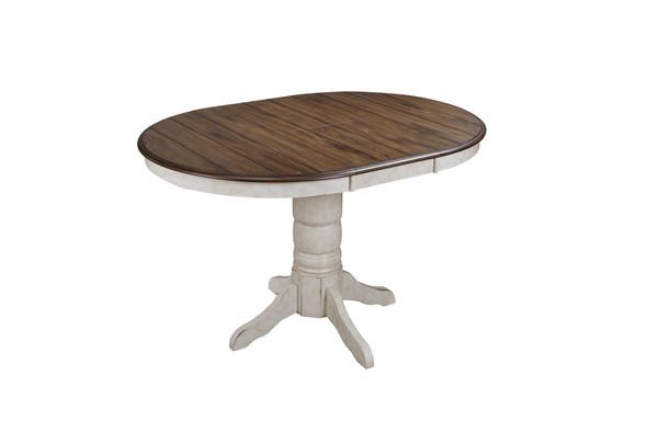"42"" X 42"" X 36"" Vintage Estates Veneer Solid Wood Pedestal Gathering Height Table"