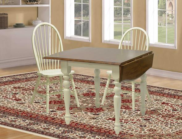 "34"" X 48"" X 30"" Buttermilk Cherry Hardwood Drop Leaf Table"