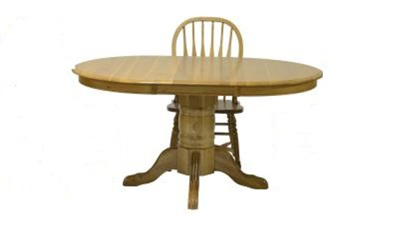 "42"" X 60"" X 30"" Harvest Oak Hardwood Pedestal Table"