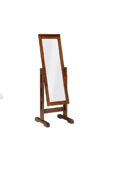 "22"" X 22.5"" X 59"" Mocha Rubberwood Rectangle Mirror - 356260"