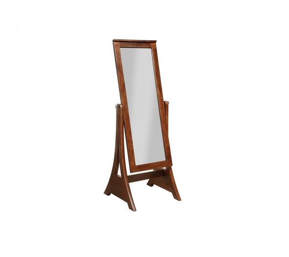 "22"" X 22.5"" X 59"" Mocha Rubberwood Rectangle Mirror - 356261"
