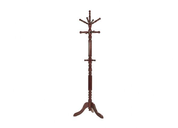 "12"" X 12"" X 74.5"" Wood Tone Hardwood Coat Stand"