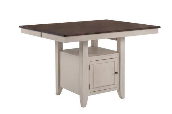"55"" X 54"" X 36"" Mocha Sand Hardwood Gathering Table"