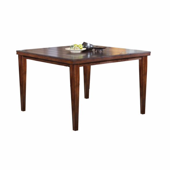 "54"" X 54"" X 36"" Cherry Wood Counter Height Table"