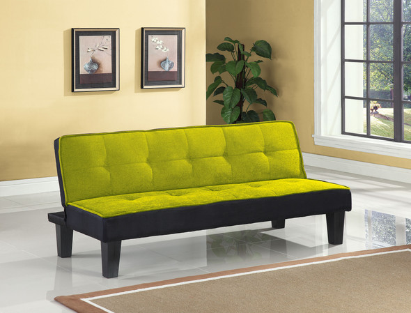 """66"""" X 29"""" X 28"""" Green Flannel Fabric Adjustable Couch"""