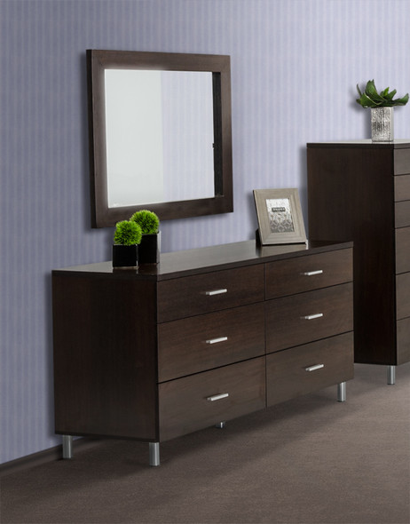 """39"""" Wenge MDF and Glass Mirror"""