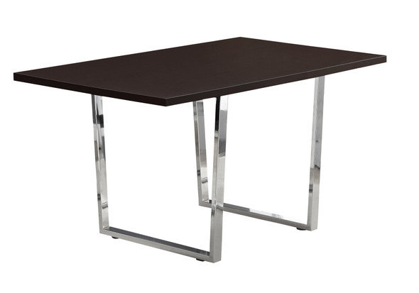 "35.5"" x 59"" x 30.25"" Cappuccino, Particle Board, Metal - Dining Table"