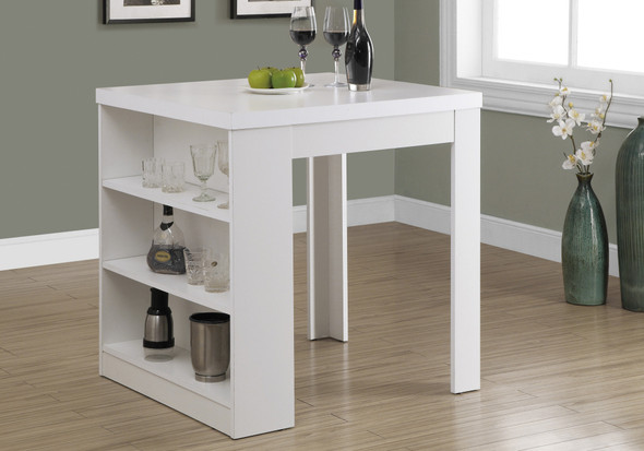 "30"" White Particle Board, Hollow Core, and MDF Counter Height Dining Table"