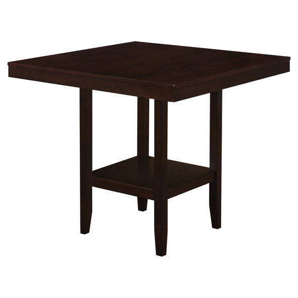 "42"" x 42"" x 36"" Cappuccino, Solid Wood And Veneer - Counter Height Dining Table"