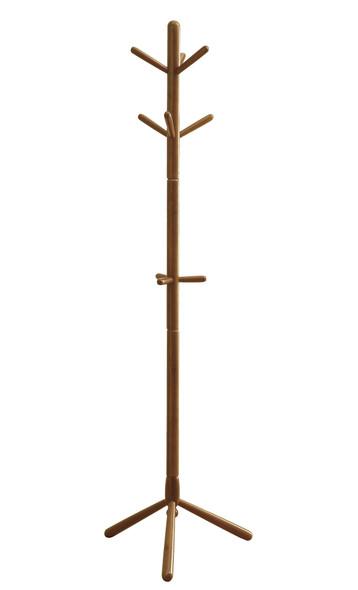 "16.25"" x 16.25"" x 69"" Oak, Solid Wood - Coat Rack"