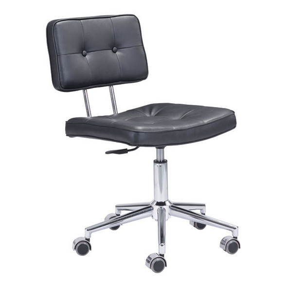 "22.4"" X 22.4"" X 35.8"" Black Leatherette Office Chair"