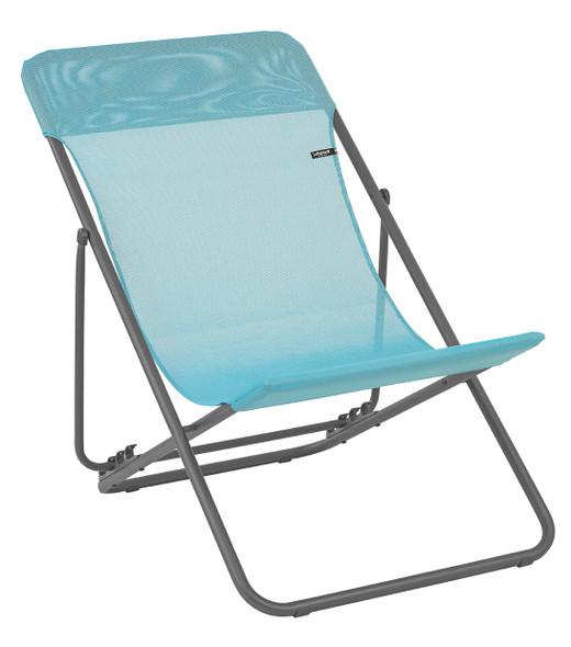 Folding Sling Chair - Set of 2 - Basalt Steel Frame - Lac Fabric