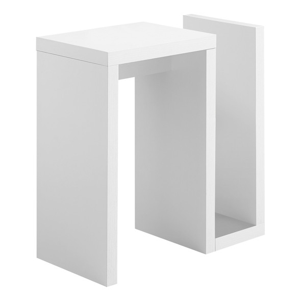 "11.5"" x 23.5"" x 24"" White, Particle Board, Hollow-Core - Accent Table"