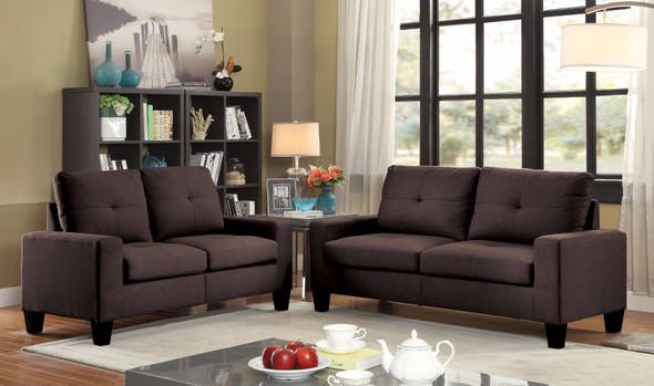 Fashionable Sofa amp; Loveseat, Chocolate Brown