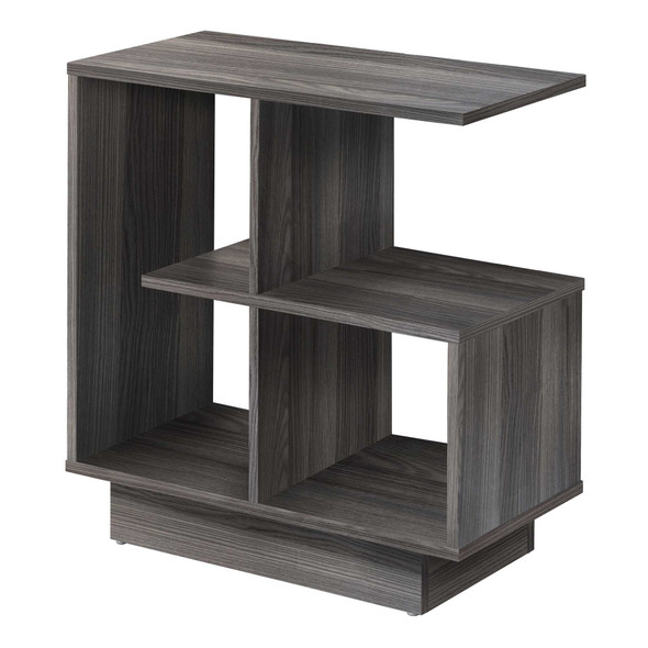 "11.5"" x 23.5"" x 24"" Grey, Particle Board, Laminate - Accent Table"