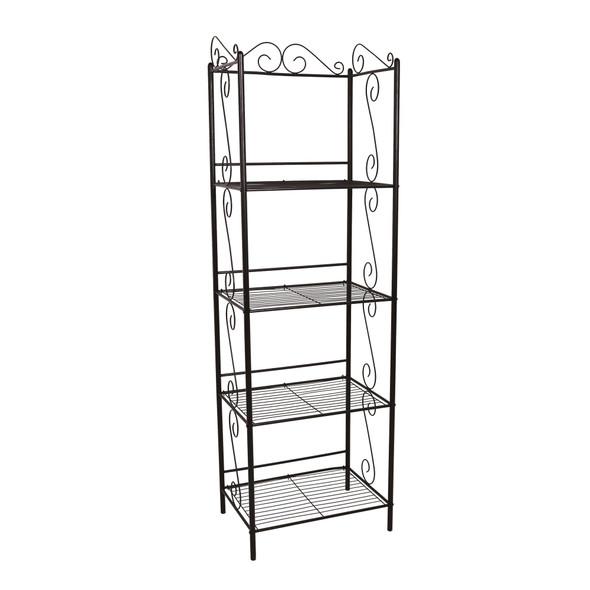 "15.25"" x 22"" x 70"" Brown, Metal, Shelf - Bookcase"