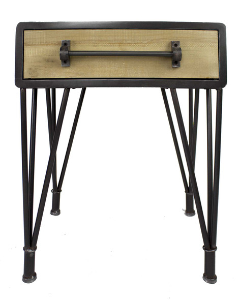 "24"" Charcoal End Table with a Drawer"