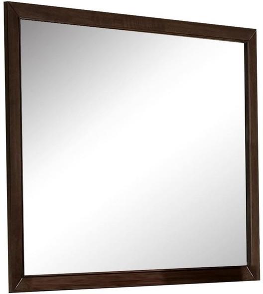 """45"""" X 35"""" Espresso Casual Mirror"""