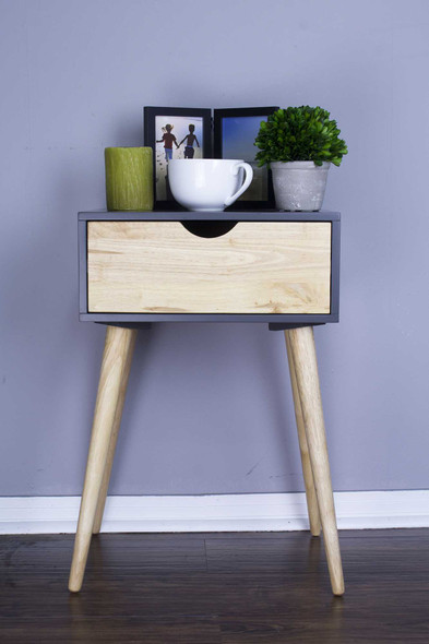 "24"" Graphite End Table with 1 Drawer"