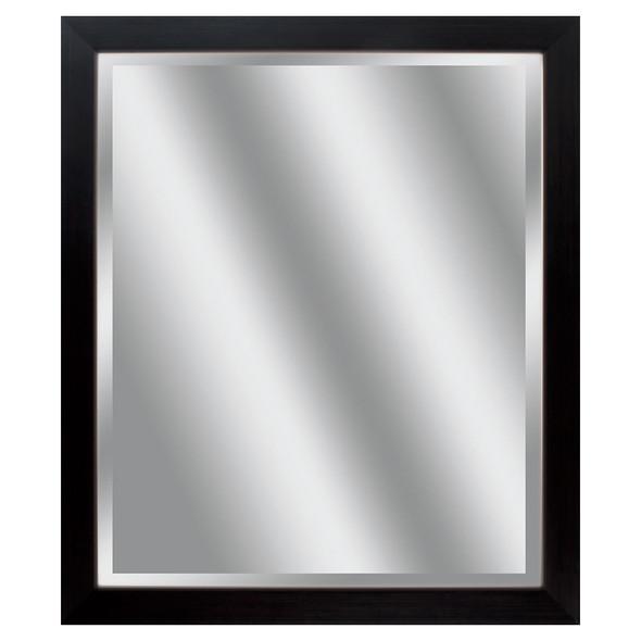 """22"""" X 26"""" Woodtoned Frame Beveled Mirror"""