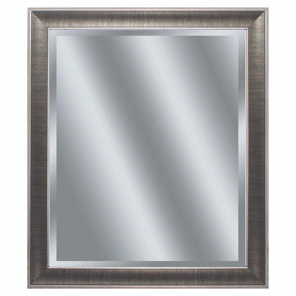 "24"" X 28"" Gunmetal Gray Frame Beveled Mirror"