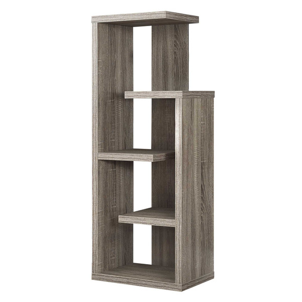 "12"" x 18.5"" x 47.25"" Dark Taupe, Particle Board, Hollow-Core - Bookcase"