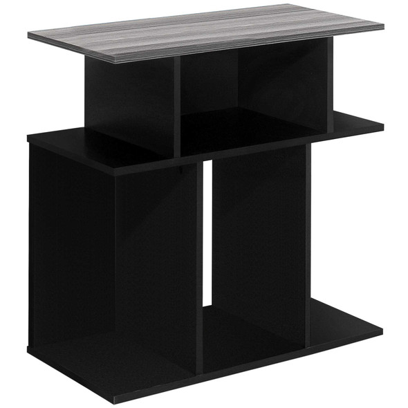 """11.75"""" x 23.75"""" x 23.75"""" Black, Grey, Particle Board, Laminate - Accent Table"""