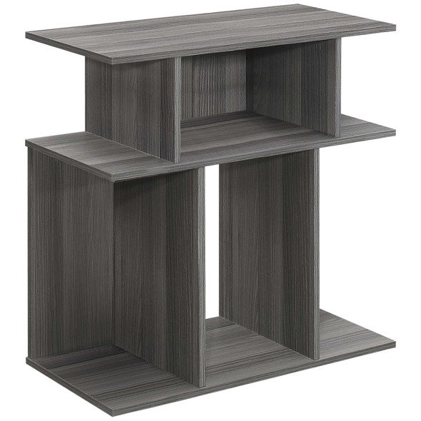 """11.75"""" x 23.75"""" x 23.75"""" Grey, Particle Board, Laminate - Accent Table"""