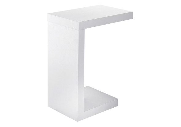 "11.5"" x 18"" x 24"" White, Hollow-Core, Particle Board - Accent Table"