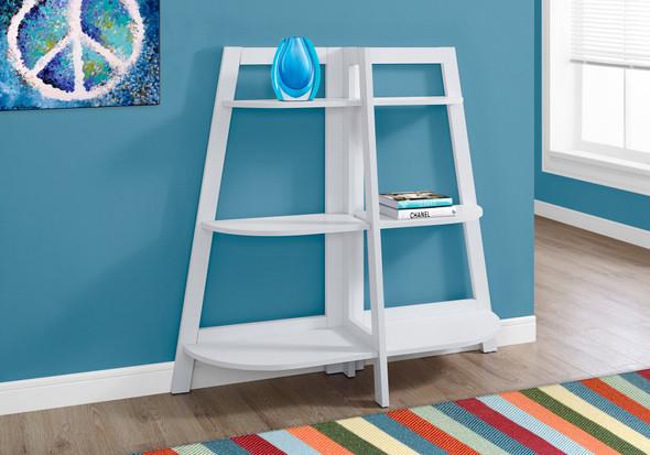 """15.5"""" x 51"""" x 47"""" White, Particle Board - Bookcase - Accent Shelf"""