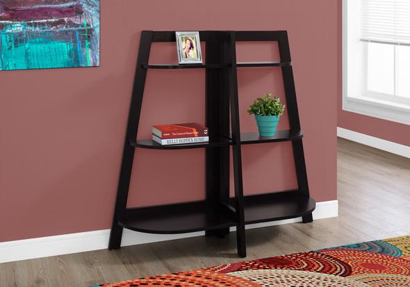"""15.5"""" x 51"""" x 47"""" Cappuccino, Particle Board - Bookcase - Accent Shelf"""