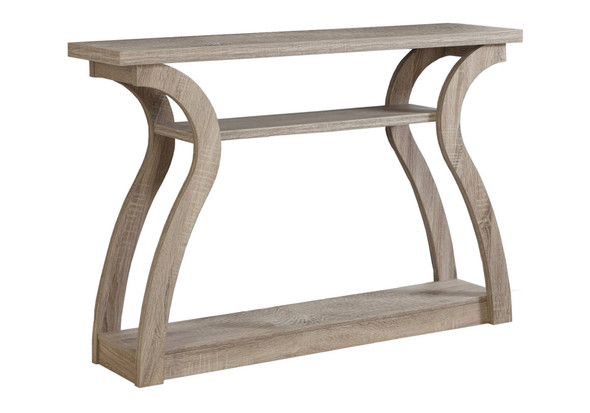 """11.5"""" x 47.25"""" x 32"""" Dark Taupe, Hollow-Core, Particle Board - Accent Table Hall Console"""