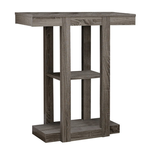 """12"""" x 31.5"""" x 34"""" Dark Taupe, Particle Board, Hollow-Core - Accent Table"""