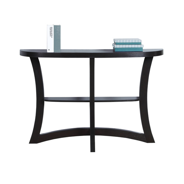 """11.5"""" x 47.25"""" x 32"""" Cappuccino, Particle Board, Hall Console - Accent Table"""