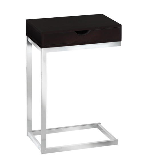 "10.25"" x 15.75"" x 24.5"" Cappuccino, Particle Board, Metal - Accent Table"