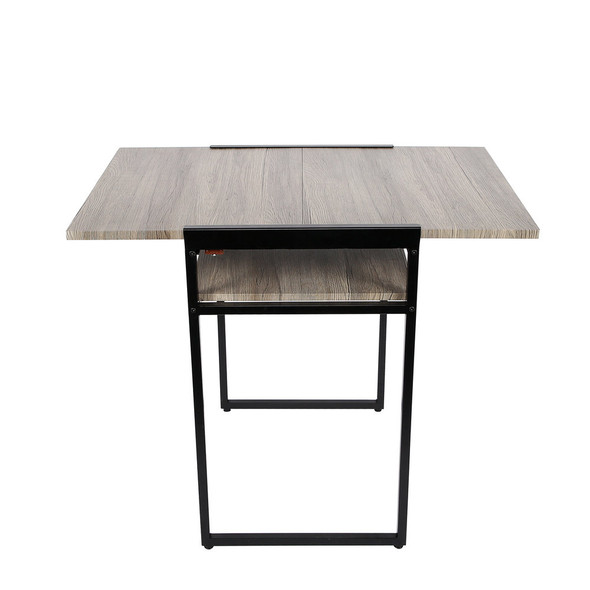 "29.9"" X 35.4"" X 23.6"" Black Small Space Desk and Dining Table"