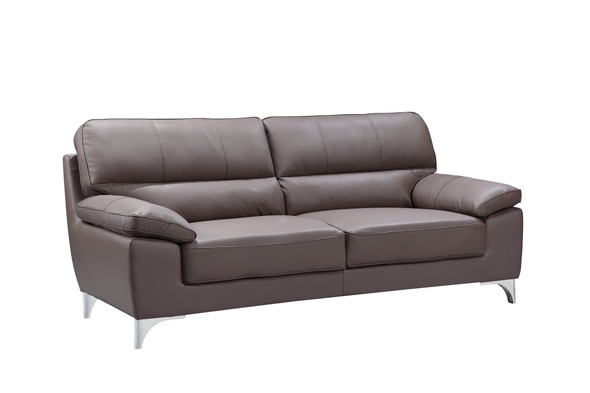 "37"" Classy Brown Leather Sofa"