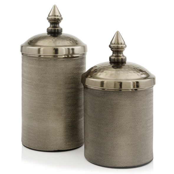 "4.5"" x 4.5"" x 11"" Bronze - Canisters Set of 2"