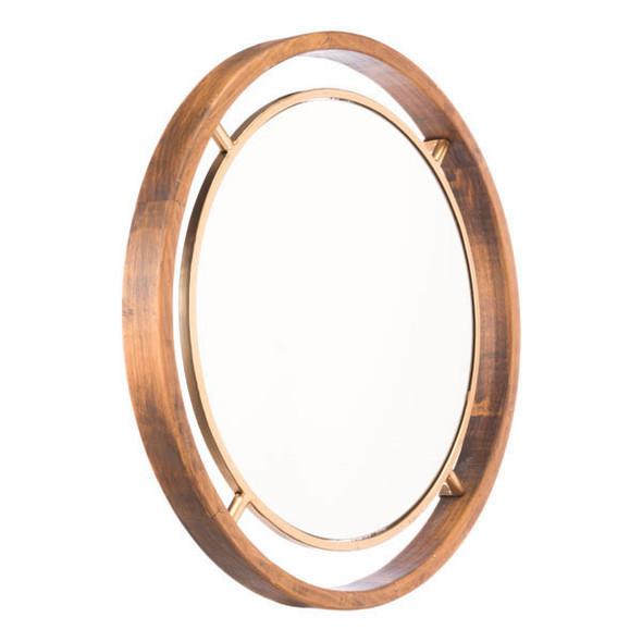 """23.6"""" X 2"""" X 23.6"""" Stunning Luxe Gold Round Mirror"""