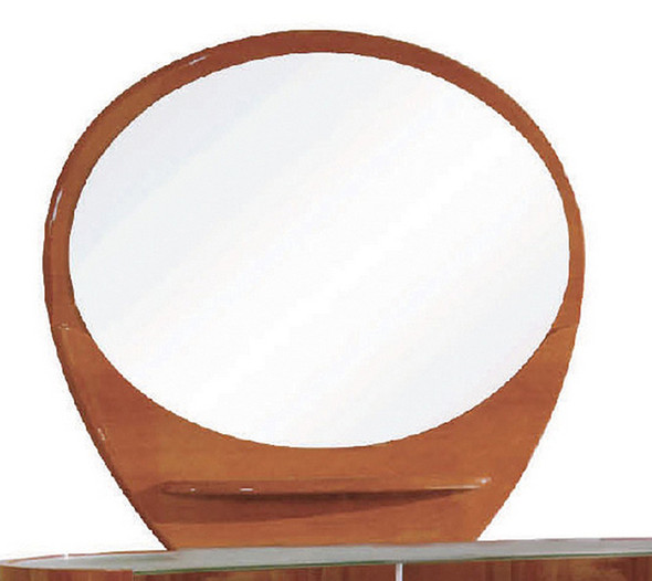 """39"""" Sophisticated Cherry High Gloss Mirror"""