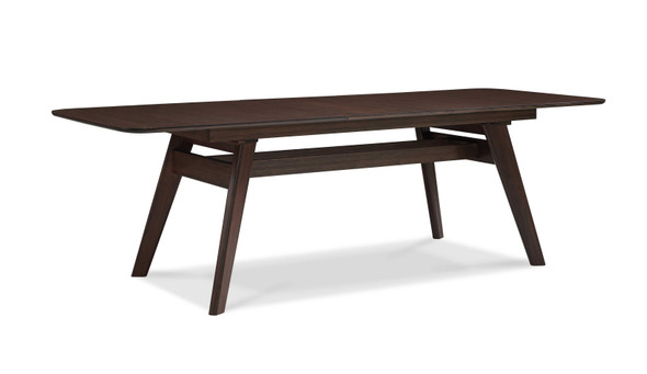 "36"" x 72.05"" x 30"" Extendable Dining Table, Black Walnut"