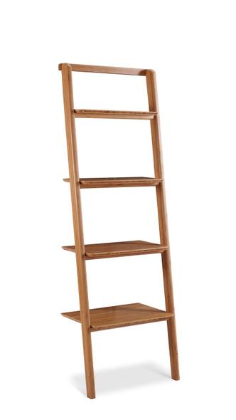 "24"" x 15.05"" x 70.1"" Leaning Bookshelf, Caramelized"
